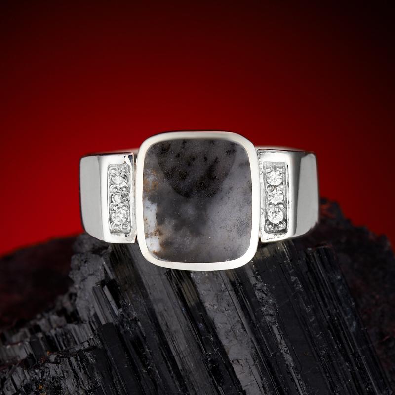 Кольцо агат пейзажный  (серебро 925 пр.) размер 21,5 кольцо авантюрин серебро 925 пр размер 21 5