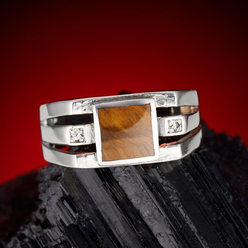 Кольцо тигровый глаз  (серебро 925 пр.) размер 20,5 кольцо сальвия тигровый глаз
