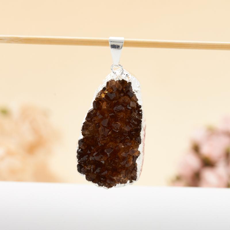 Кулон друза цитрин  3-4 см