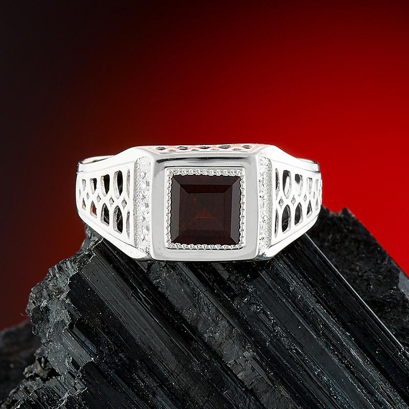 Кольцо гранат альмандин  огранка (серебро 925 пр.) размер 19,5 кольцо гранат серебро 925 пр размер 17 5