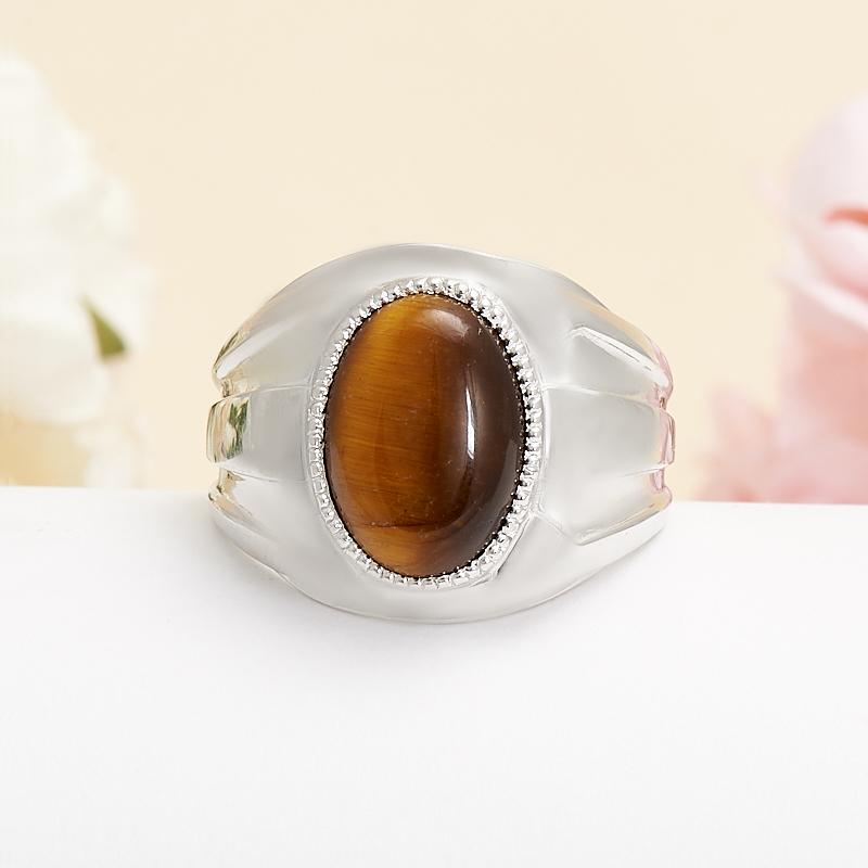 Кольцо тигровый глаз (серебро 925 пр.) размер 20