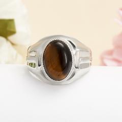 Кольцо тигровый глаз ЮАР (серебро 925 пр.) размер 20