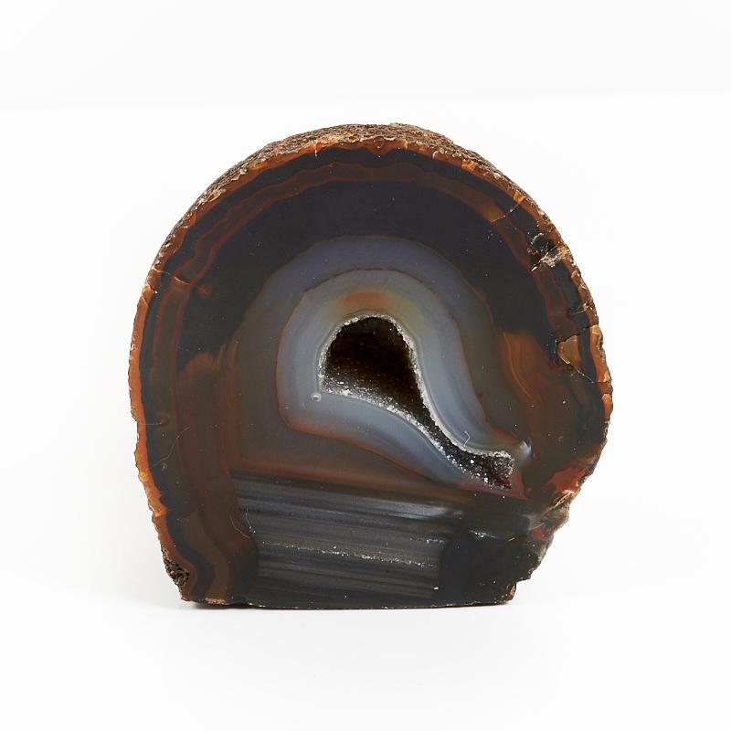 Жеода агат коричневый  S