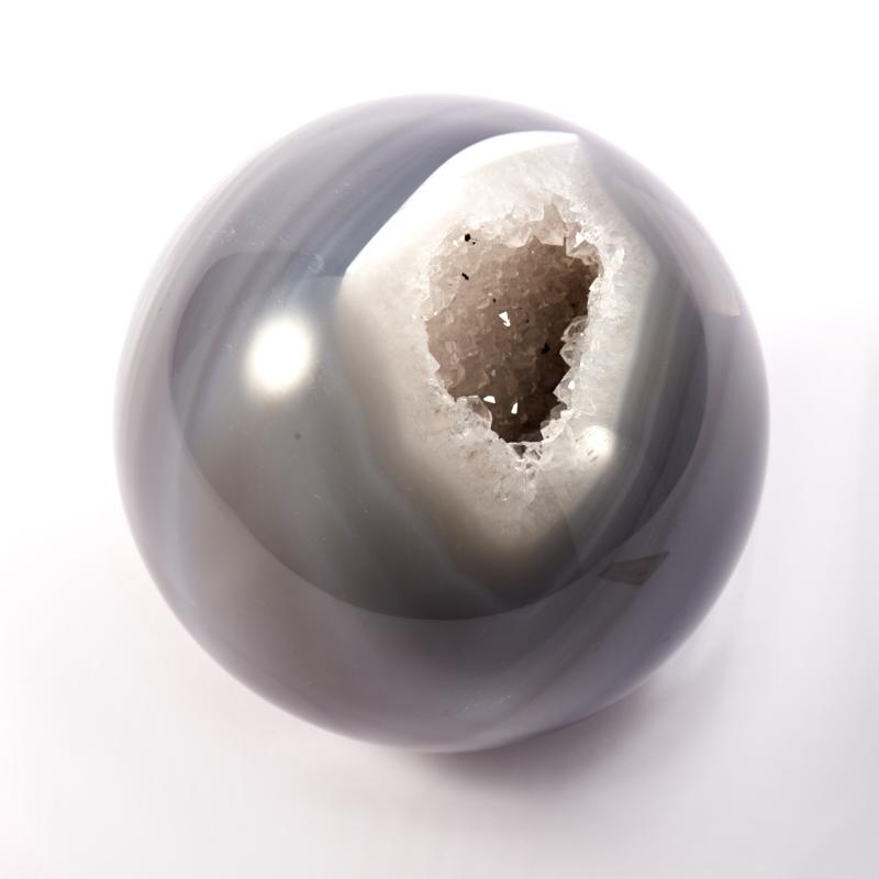 Шар жеода агат серый  8 см