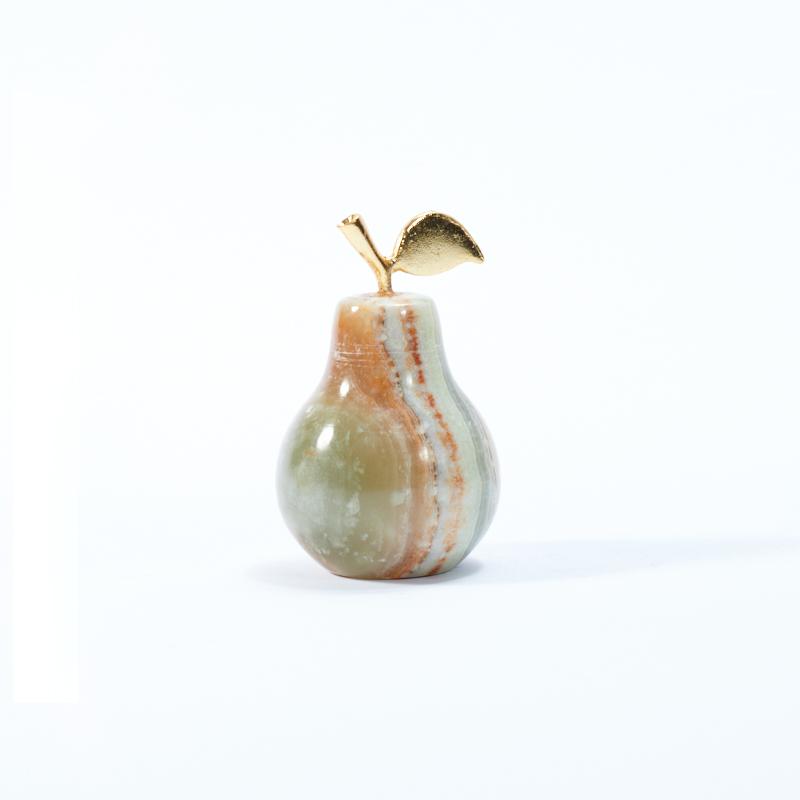 Груша оникс мраморный 6 см шкатулка оникс мраморный 6х7 см