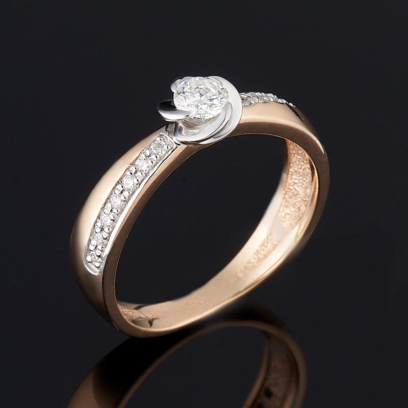 Кольцо бриллиант Индия огранка (золото 585 пр.) размер 17,5