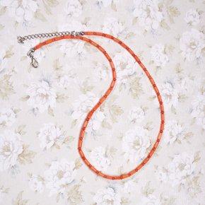 Бусы коралл оранжевый Индонезия 51-58 см