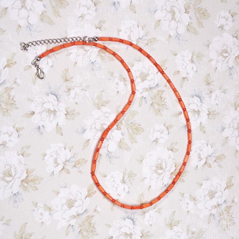 Бусы коралл оранжевый  51-58 см
