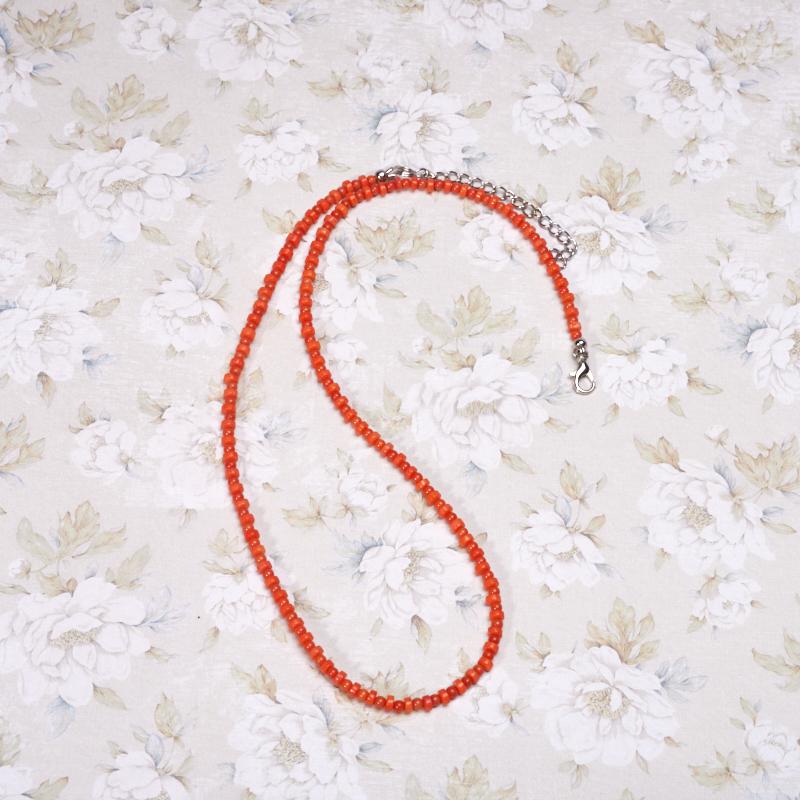 Бусы коралл оранжевый  50-57 см