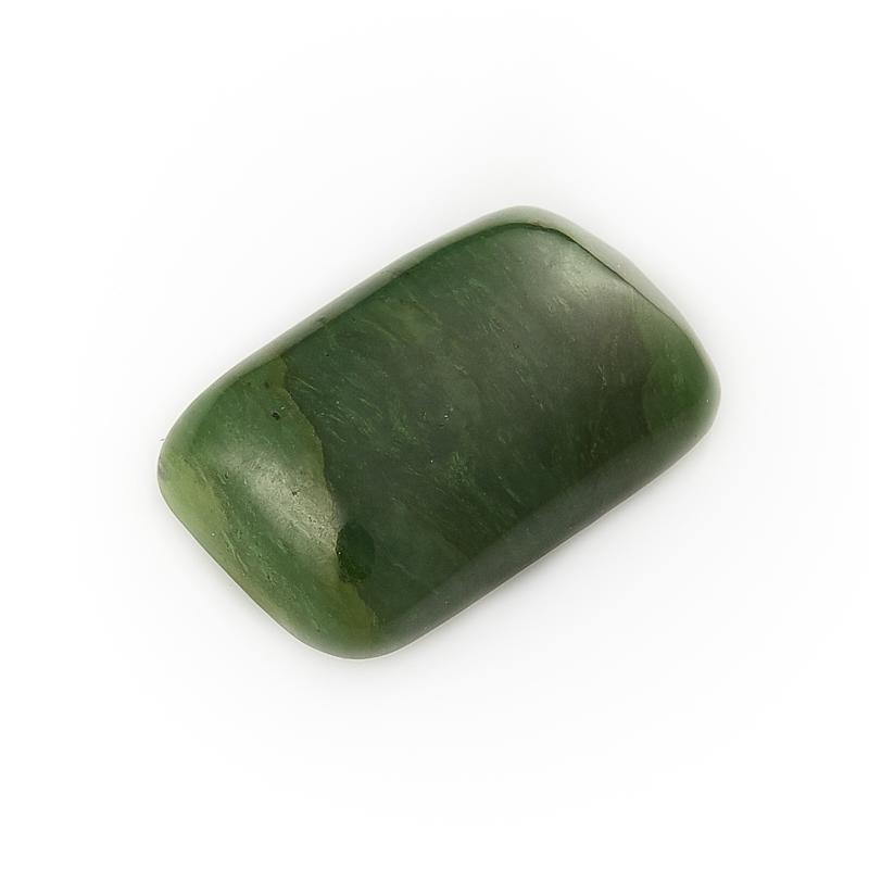 Кабошон нефрит зеленый  12*20 мм