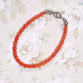 Браслет коралл оранжевый Индонезия 17 см