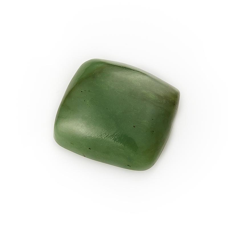 Кабошон нефрит зеленый  12*12 мм