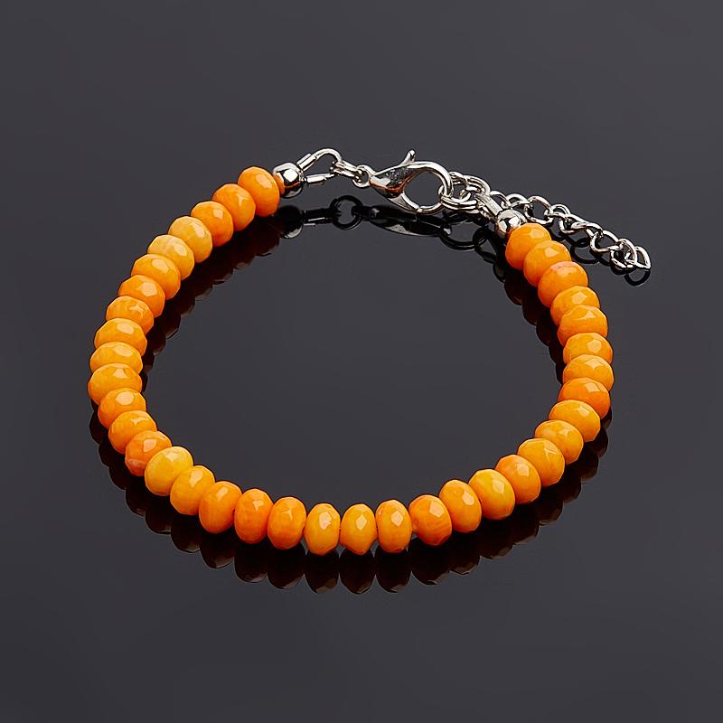 Браслет коралл оранжевый огранка 6 мм 16-19 см (биж. сплав) patrisa nail зеркальная втирка космос 2 сверхновая