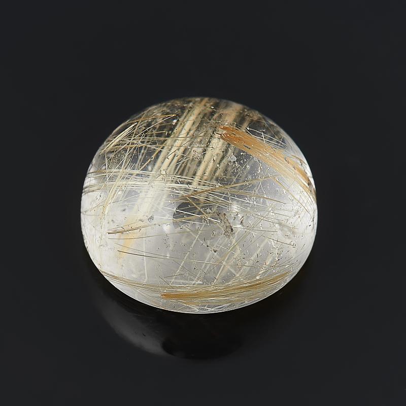 Кабошон рутиловый кварц  10 мм украшения с рутиловый кварц