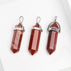 Кулон кристалл яшма красная ЮАР 4 см