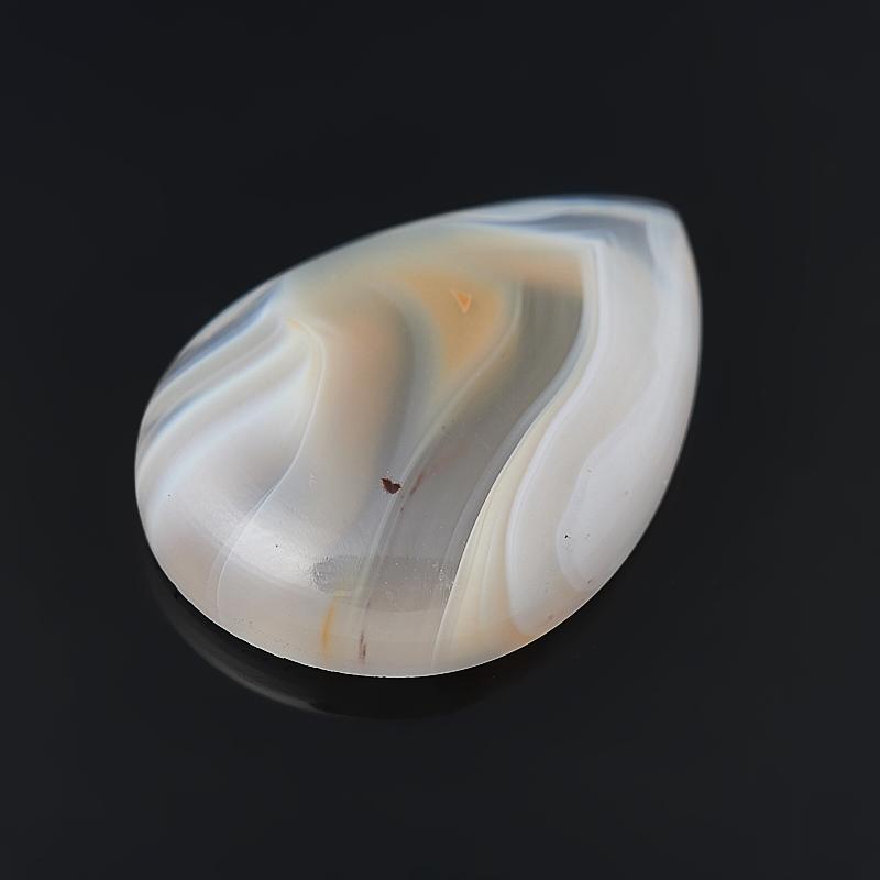 Кабошон агат серый Ботсвана 18*25 мм