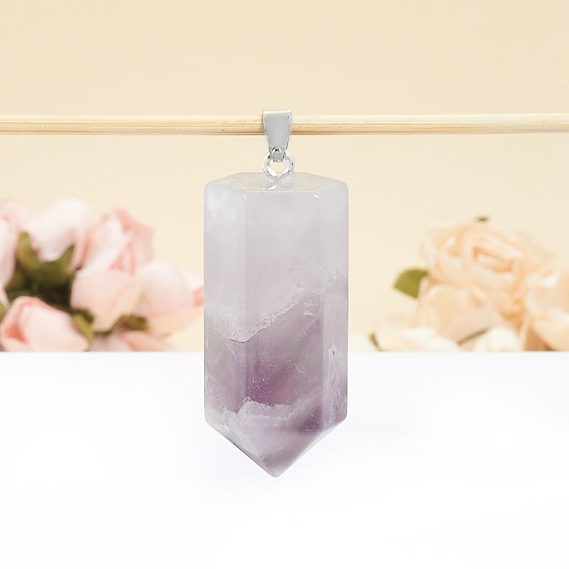 Кулон аметист Бразилия кристалл 4,5 см