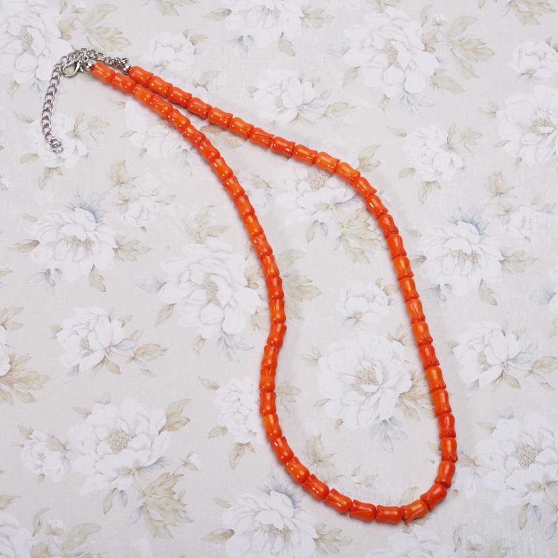 Бусы коралл оранжевый  50-57 см браслеты indira браслет бирюза коралл gl0143