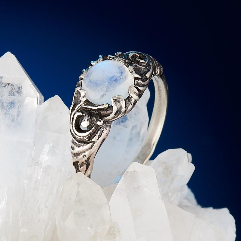 Кольцо лунный камень  (серебро 925 пр.) размер 17