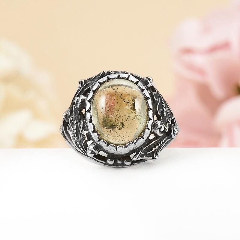 Кольцо турмалин зеленый (верделит)  (серебро 925 пр.) размер 17 кольцо авантюрин зеленый серебро 925 пр размер 18