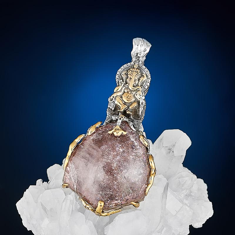Кулон турмалин розовый (рубеллит)  (серебро 925 пр.) кабошон турмалин розовый рубеллит 5 7 мм