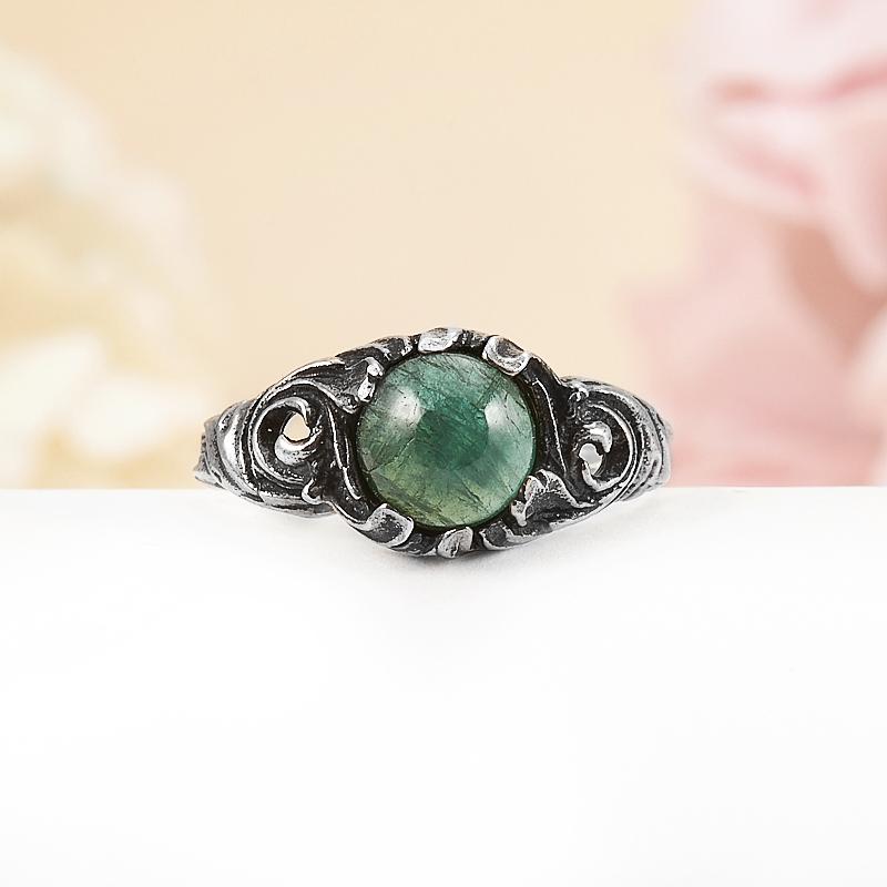 Кольцо турмалин зеленый (верделит)  (серебро 925 пр.) размер 16,5