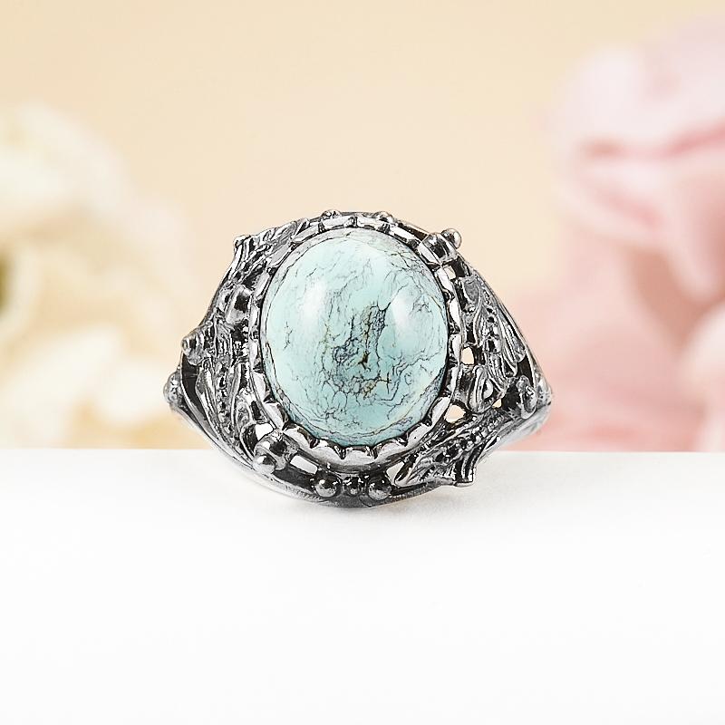 Кольцо бирюза  (серебро 925 пр.) размер 18,5