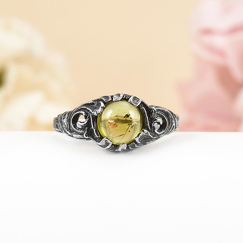 Кольцо хризолит  (серебро 925 пр.) размер 18 кольцо spallation yjz4457 925
