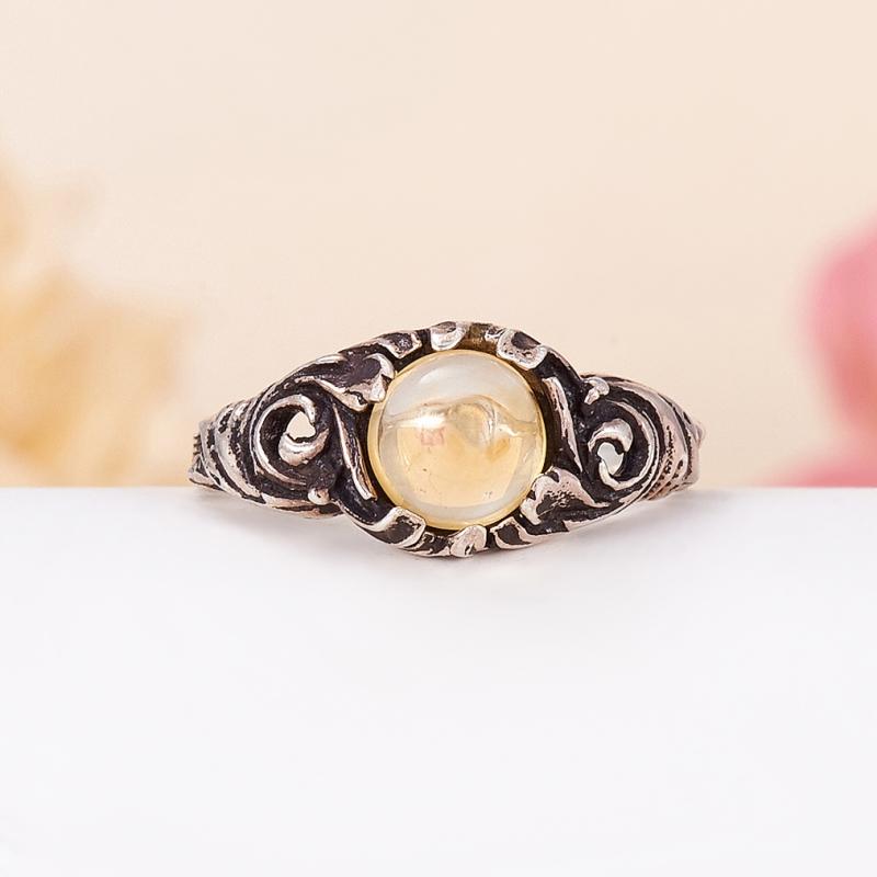 Кольцо цитрин  (серебро 925 пр.) размер 17,5 кольцо авантюрин зеленый серебро 925 пр размер 18