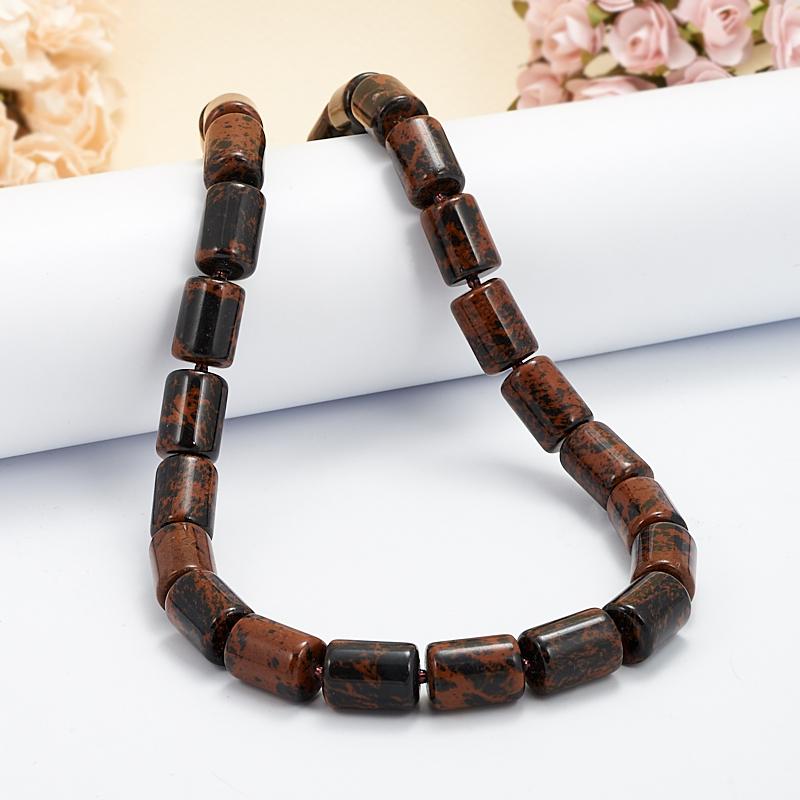 Бусы обсидиан коричневый  45-51 см бусы olere бусы