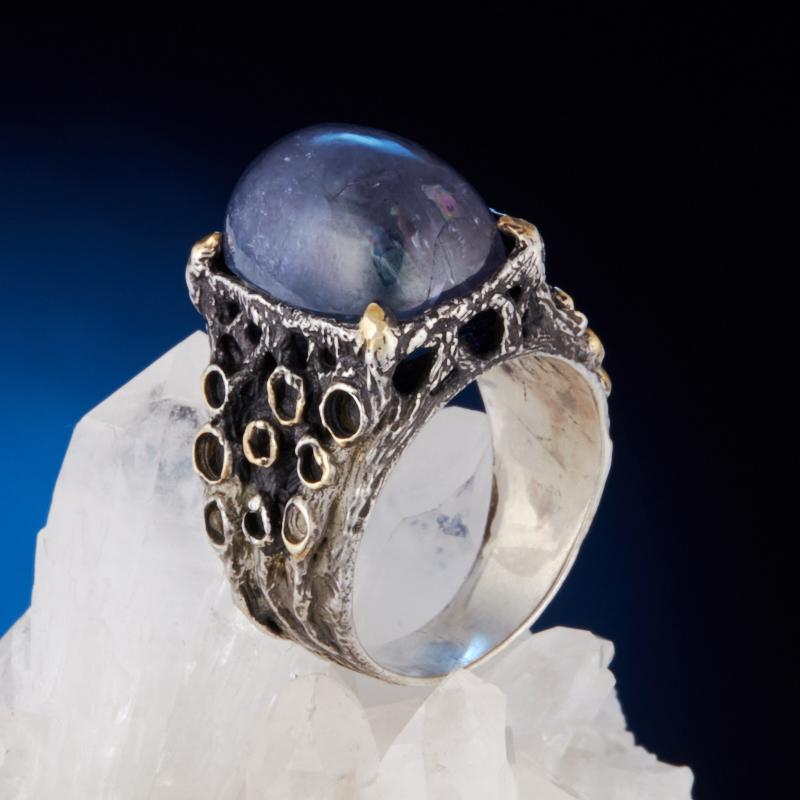 Кольцо танзанит  (серебро 925 пр.) размер 18,5 кольцо авантюрин зеленый серебро 925 пр размер 18