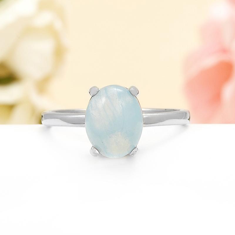 Кольцо аквамарин  (серебро 925 пр.) размер 18 кольцо фуксит серебро 925 пр регулируемый размер