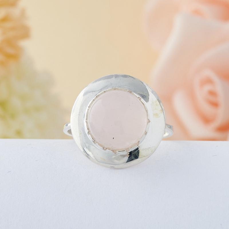 Кольцо розовый кварц  (серебро 925 пр.) размер 16,5