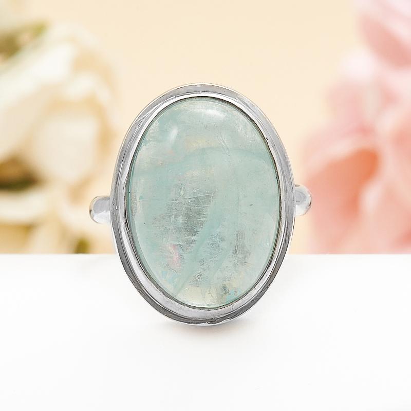 Кольцо аквамарин  (серебро 925 пр.) размер 17,5 кольцо авантюрин зеленый серебро 925 пр размер 18