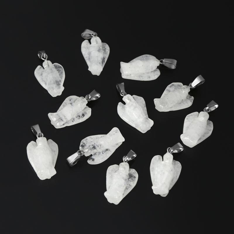 Кулон ангел горный хрусталь Бразилия (биж. сплав) 3 см