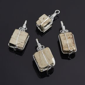 Кулон пирит Перу кристалл (биж. сплав) 3-4 см