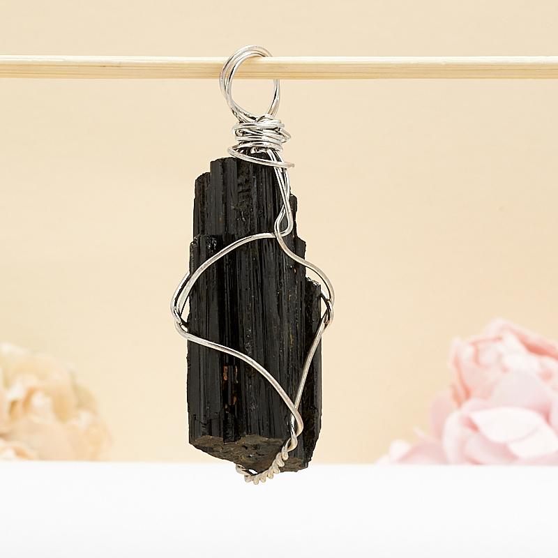 Кулон кристалл турмалин черный (шерл)  5-7 см кристалл турмалин черный шерл xxs