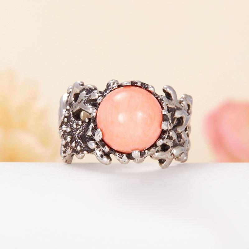 Кольцо коралл розовый  (серебро 925 пр.) размер 18,5 кольцо авантюрин зеленый серебро 925 пр размер 18