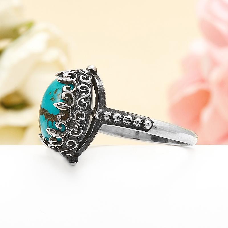 Кольцо бирюза Тибет (серебро 925 пр.) размер 17,5