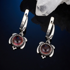 Серьги турмалин розовый (рубеллит) Бразилия (серебро 925 пр.)