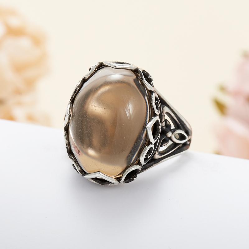 Кольцо раухтопаз  (серебро 925 пр.) размер 19 кольцо авантюрин зеленый серебро 925 пр размер 18
