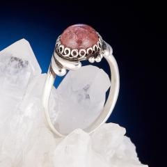 Кольцо турмалин розовый (рубеллит) Бразилия (серебро 925 пр.) размер 18,5