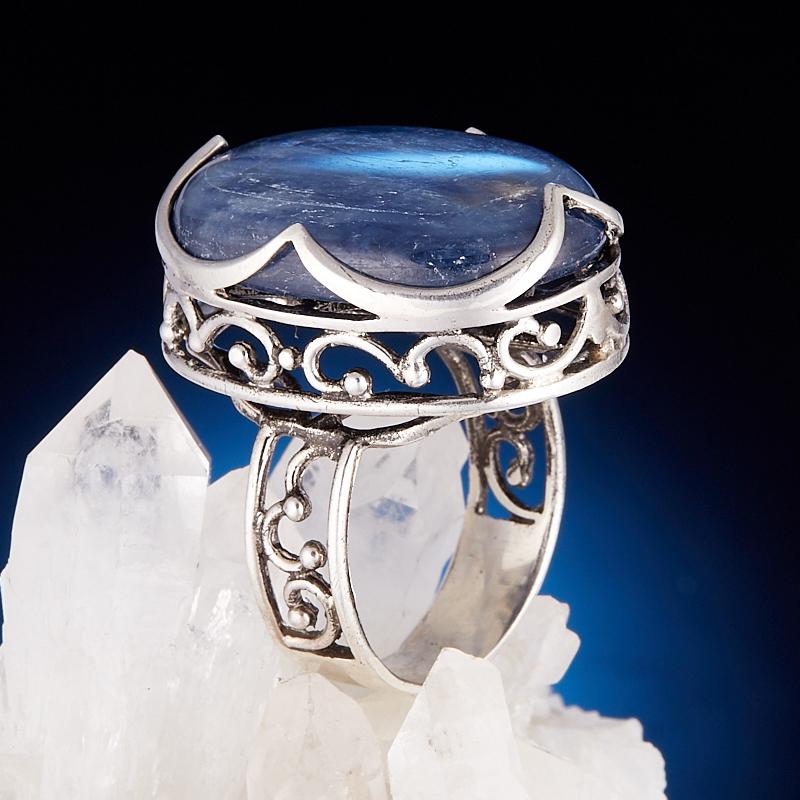Кольцо кианит синий  (серебро 925 пр.) размер 18,5 кольцо авантюрин зеленый серебро 925 пр размер 18