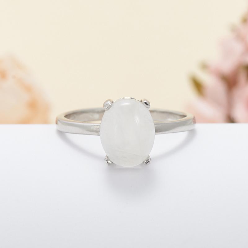Кольцо лунный камень  (серебро 925 пр.) размер 18,5 кольцо авантюрин зеленый серебро 925 пр размер 18
