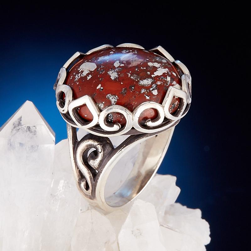 Кольцо яшма брекчиевая  (серебро 925 пр.) размер 17,5