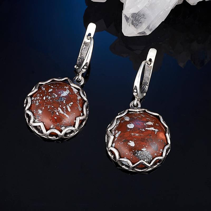 Серьги яшма брекчиевая (серебро 925 пр.)
