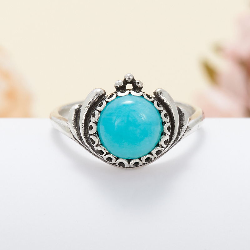 Кольцо амазонит  (серебро 925 пр.) размер 17 кольцо авантюрин зеленый серебро 925 пр размер 18