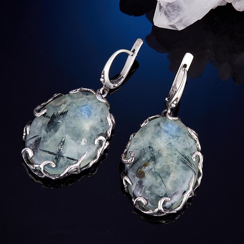 Серьги пренит (серебро 925 пр.) серьги агат серый серебро 925 пр