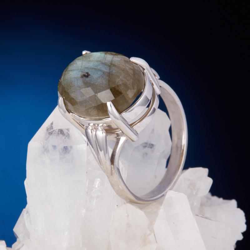 Кольцо лабрадор  огранка (серебро 925 пр.) размер 19