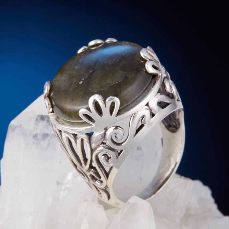 Кольцо лабрадор  (серебро 925 пр.) размер 17 кольцо авантюрин зеленый серебро 925 пр размер 18